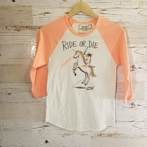 "Riot Society ""Ride or Die"" unicorn tee"